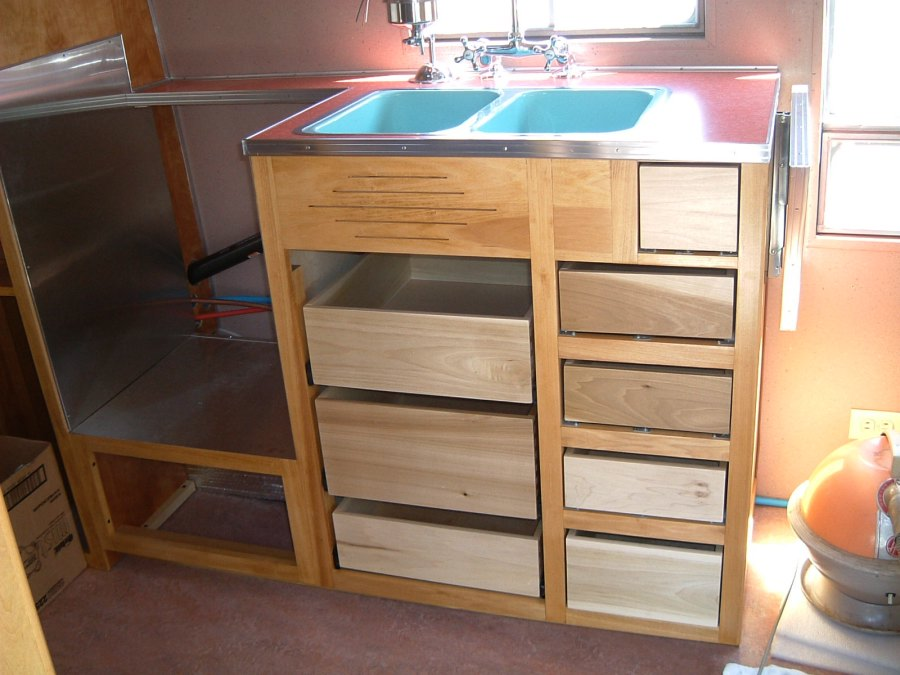 The Drawer Faces Are The Same 3/8u2033 Birch Plywood As The Door Faces (see  Below). The Copper Finish Squeeze Latches Are Vintage 1950u0027s New Old Stock  (ebay), ...
